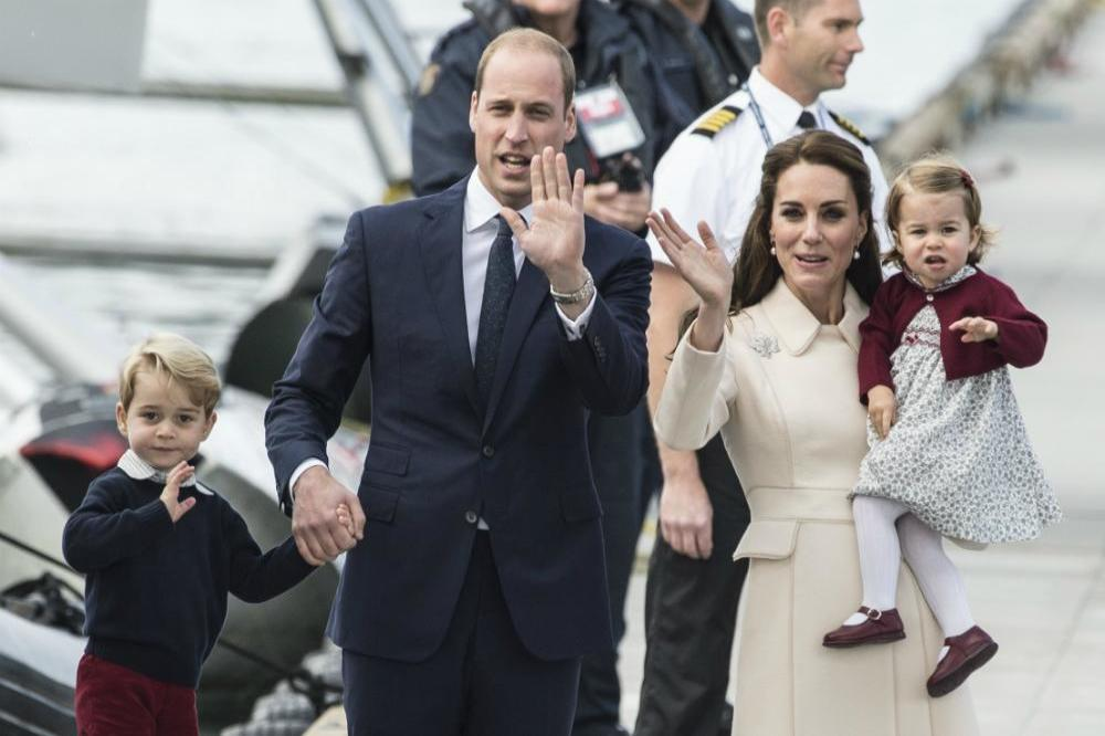 Prince William, Duchess Catherine, Prince George and Princess Charlotte