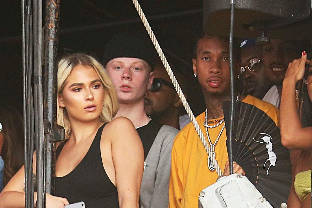 Tyga and his mystery blonde at Wireless Festival in London