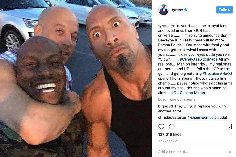 Tyrese Gibson To Quit Fast And Furious 9 If Dwayne Johnson