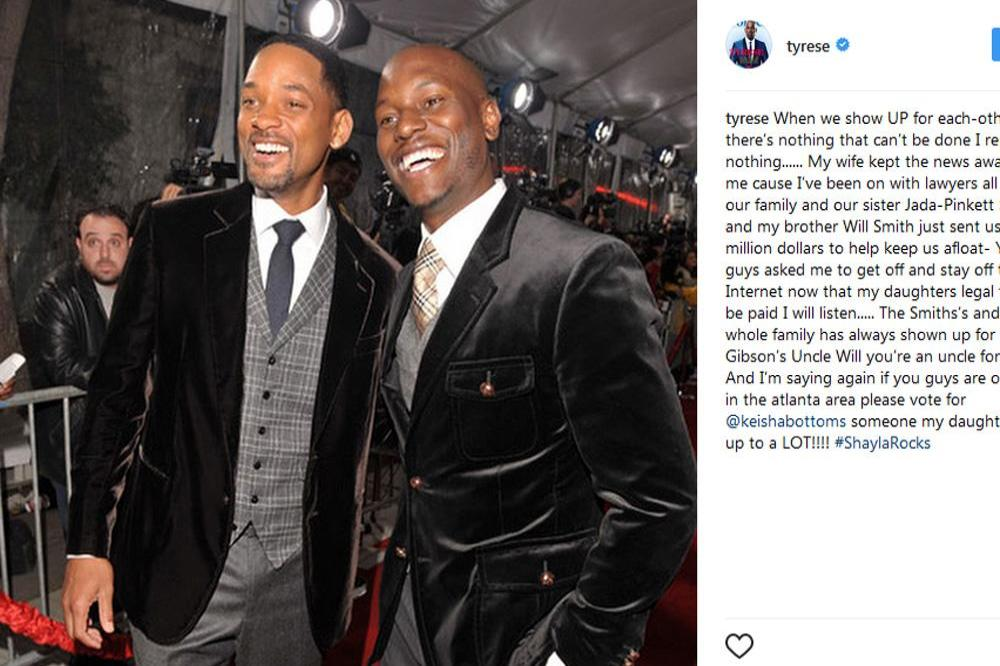Will Smith and Tyrese Gibson (c) Instagram