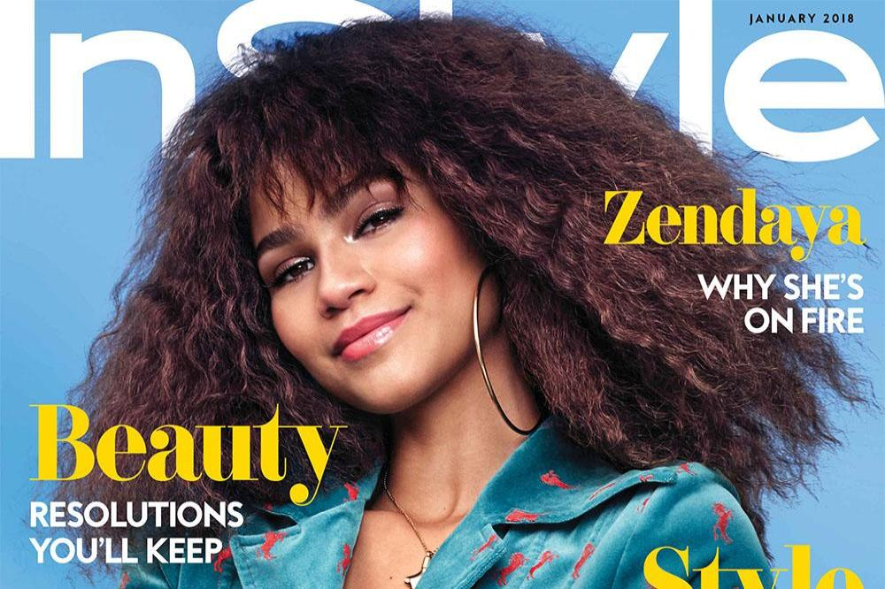 Zendaya on the cover of January issue of InStyle magazine