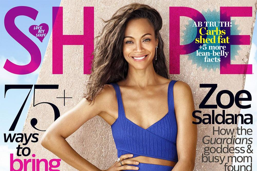 Zoe Saldana for Shape magazine