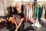Amelia Lily with her shoe collection