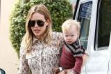 Hilary Duff with her son Luca
