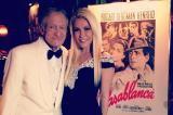 Hugh Hefner with Crystal at Casablanca party