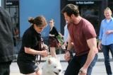 Hugh Jackman and his dog Dali in New York