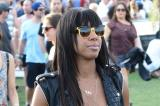 Kelly Rowland channels biker chic at Coachella