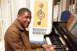 Labrinth at the Nordoff Robbins music therapy class