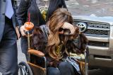 Lady Gaga in her Louis Vuitton wheelchair