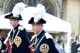 Prince William and Princes Charles at the Order of the Garter event