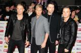 Shane Filan with his Westlife bandmates