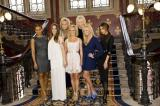 Spice Girls with Viva Forever! creators Judy Cramer and Jennifer Saunders