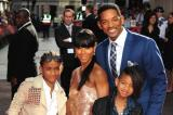 Jada Pinkett Smith with Will and her kids