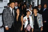 Will Smith and wife Jada Pinkett Smith with their children Willow and Jaden