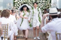 Beth Ditto and Kristin Ogata at their wedding