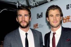 Chris and Liam Hemsworth are very competitive