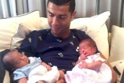 Cristiano Ronaldo shares photo of twins