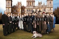 Downton Abbey cast at Highclere Castle