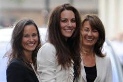 Pippa and Carole Middleton with Duchess Catherine