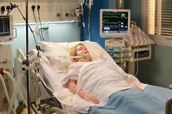 EastEnders' Sharon in hospital