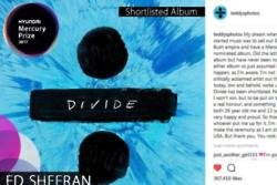 Ed Sheeran always dreamed of having a Mercury Award nominated album