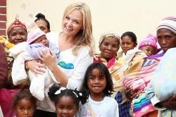 Emma Bunton has teamed up with Pampers UNICEF