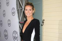 Heidi Klum Makes Art with Kids' Hair