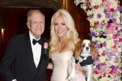 Hugh Hefner with wife Crystal Harris