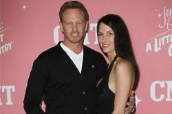 Ian Ziering and his wife