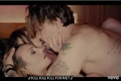 Johnny Depp simulates threesome in Marilyn Manson video