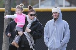 Kevin Federline with Victoria Prince and their daughter Jordan