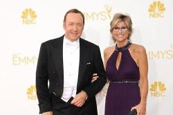 Kevin Spacey and Ashleigh Banfield at the Emmy Awards