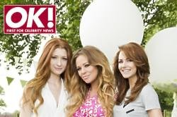 Kimberley Walsh (centre) with pals Nicola Roberts (left) and Kara Tointon (right)