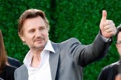 Liam Neeson gives thumbs up to the Irish accent!