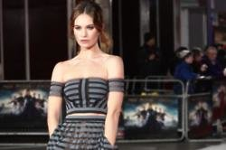 Lily James - Pride And Prejudice And Zombies Red Carpet