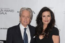 Michael Douglas and Catherine Zeta-Jones renewing wedding vows