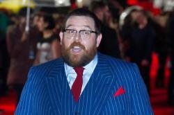 Nick Frost at the premiere of Cuban Fury