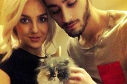Perrie Edwards and Zayn Malik with Prada