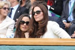 Kate Middleton and sister Pippa at Wimbledon