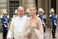 Princess Charlene with Prince Albert