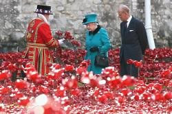 Queen Elizabeth and Prince Philip at the Tower of London