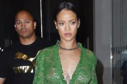 Rihanna parties with on/off love Drake