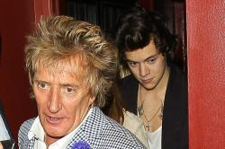 Rod Stewart and Harry Styles out to dinner in LA