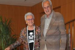 Rosita Missoni and Ottavio Missoni