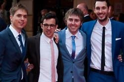The Inbetweeners cast at the premiere in London