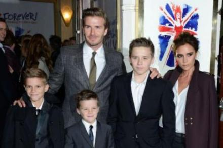 Victoria, David and their boys