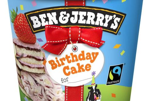 ben and jerry s ice cream cake ben and jerry s launch birthday cake flavour 1644
