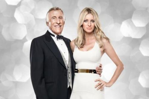 Bruce Forsyth with Tess Daly in 2012