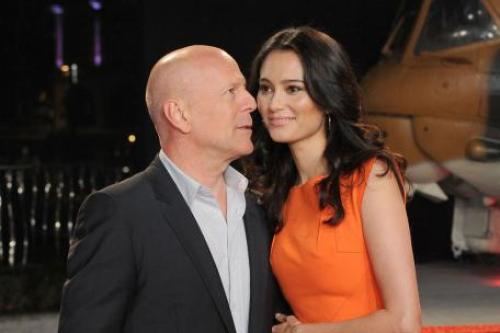 Bruce Willis with his wife Emma Herring-Willis