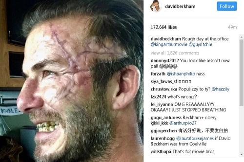 David Beckham wrecked his football performance by having tatoos?